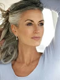 grey streaks in hair sam gold mature women pinterest