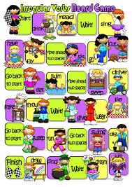 40 free esl irregular verbs game worksheets
