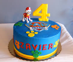paw patrol birthday party cake customizable food labels