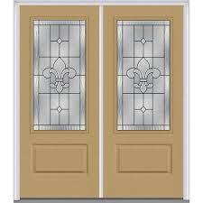 decorative glass for doors mmi door 74 in x 81 75 in carrollton decorative glass 2 lite