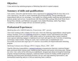 marketing resume exle resume templates email marketing specialist sle exle