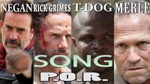 T Dog Meme - negan rick grimes t dog merle dixon p o r youtube