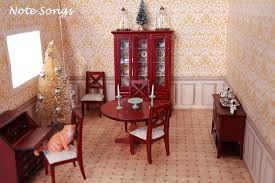 Dollhouse Dining Room Furniture by Ash Tree Cottage Dollhouse Minis