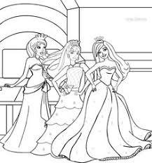 princess barbie coloring pages print coloring pages print