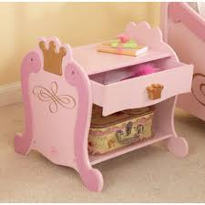 Pink Nightstand Side Table Kids Night Stands And Dressers Kidkraft