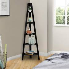 Corner Bookcase Ideas Ladder Bookcase Decorating Selection Featuring Corner Bookcase