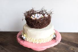 Easter Cake Edible Decorations by Spring Easter Egg Nest Cake