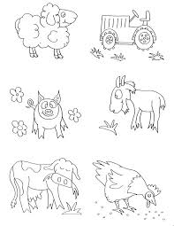 pictures farm animal coloring pages 35 coloring books farm