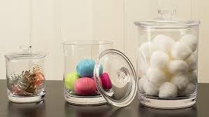 amazon com premium quality clear plastic apothecary jars set of