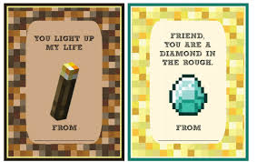 cool valentines cards 5 printable minecraft cards for the classroom cool