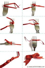 tie ribbon mar fork bows how to tie a bow using a fork diy