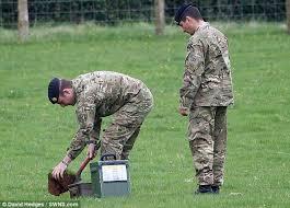 camouflage easter eggs toddler on easter egg hunt stumbles on second world war grenade