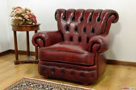 classic luxury armchair in hand buffered leather