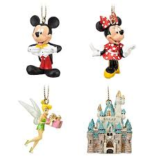 wdw miniature ornament set 4 pc mickey minnie tink castle