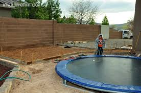 concrete patio project backyard landscaping update all things