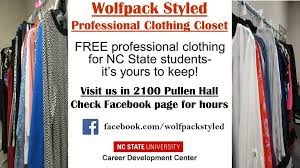 wolfpack styled professional clothing closet at nc state home