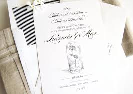 and the beast wedding invitations and the beast save the date cards