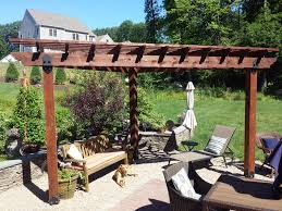 Decorative Coolers For The Patio by Pergola Built Using Owt Hardware Provides The Needed Shade To