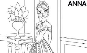elsa and anna coloring pages disney cartoons printable coloring