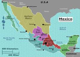 Mexico On A Map by Download Map Of North Mexico Major Tourist Attractions Maps