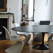 Knoll Dining Table by Knoll Eero Saarinen Oval Dining Table Black Marble Top Apt