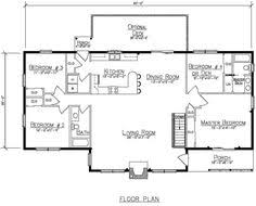 Cottage Floor Plans One Story Simple One Story Open Floor Plan Rectangular Google Search