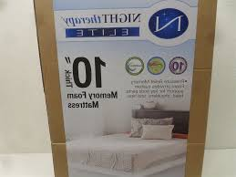 night therapy sc fm113 10k 10 inch memory foam mattress elite king