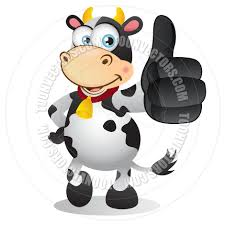 cartoon cow with thumbs up gesture by cartoongalleria toon