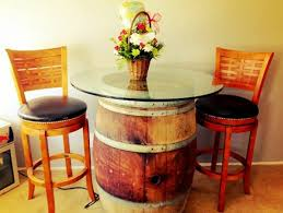 Yellow Bar Table Wine Barrel Bar Table And Many Other Diy Furniture That Can Be