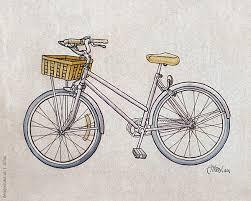 classic ink u0026 light wash bicycle art pinterest bike sketch