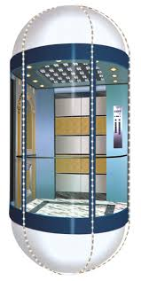 commercial shaftless 5 person glass residential elevator cheap