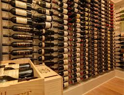 Wine Cellar Shelves - vintage view wine racking modern wine cellar vancouver by