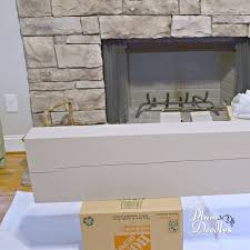 how to finish mantel to coordinate with stone fireplace plum doodles