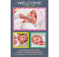 birth announcement custom baby birth announcements party city