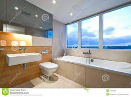 En Suite Bathrooms by Modern En Suite Bathroom With Large Window Stock Photography
