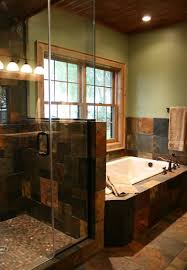 Master Bath Remodels Slate Tile Bathroom Slate Tile In Bath Master Bath Remodel