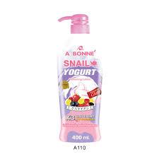 Gluta Yogurt Lotion a110 abonne snail yogurt whitening lotion 400ml shopee