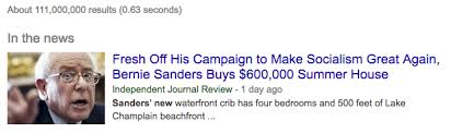 Bernie Sanders New House Pictures Media Cannot Stop Snarking About Capitalism When Reporting On