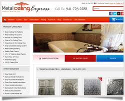 Tin Ceiling Xpress by Metal Ceiling Express Online Marketing Arnima Design