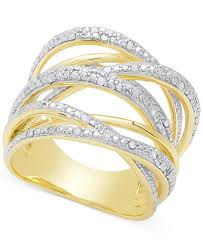 golden silver rings images Diamond orbital ring 1 4 ct t w in sterling silver or 18k rose tif