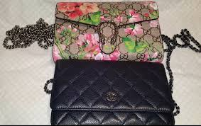 bloom wallet gucci dionysus blooms wallet and chanel woc