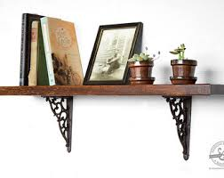 Dark Wood Bookshelves by Wooden Bookshelf Etsy