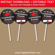 graduation favor ideas cupcake toppers graduation chalkboard printable high school