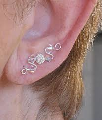 ear earring up the ear earrings custom designed climbing earrings 727 222 3590
