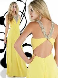 empire v neck beaded yellow prom dress 2013 on sale empire v neck