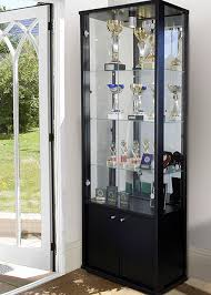 display cabinet with glass doors furnitures cool black modern display cabinet with double glass glass