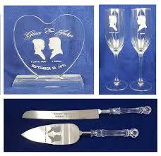 crystal starwars wedding cake topper glasses knife engraved star