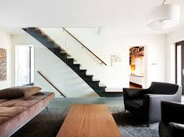 staircase wall decor ideas living room contemporary with leather
