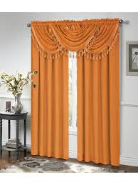 circa panel rod pocket waterfall valance w fringe u2013 marburn curtains