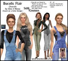 Fashion Nexus A Fashion Blog by My Sims 4 Blog Overalls And Tops For Teen Elder Females By
